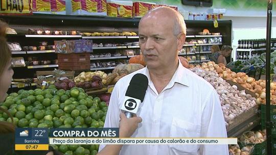 'Compra do Mês': preço da laranja e do limão dispara com o aumento do consumo no calor