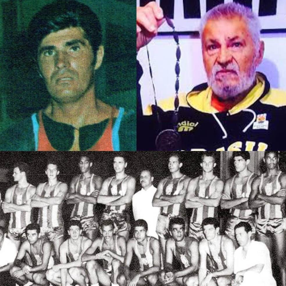 Waldir Boccardo foi campeão mundial em 1959 — Foto: Montagem CBB