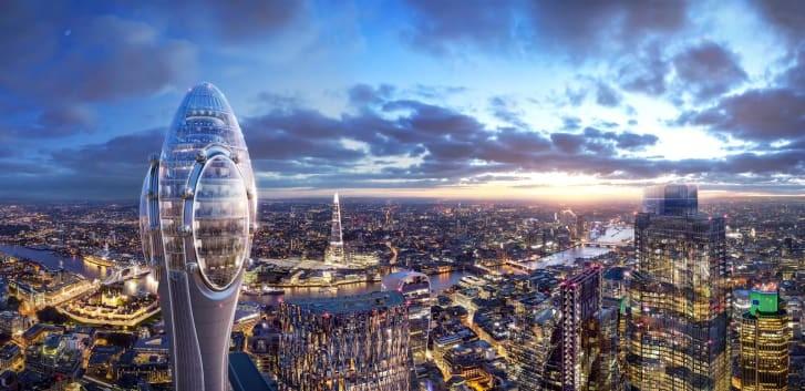Tulip será o segundo prédio mais alto de Londres (Foto: DIVULGAÇÃO/FOSTER + PARTNERS)