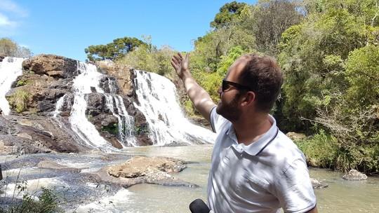 'Plug': Bruno Fávaro conheceu uma das cachoeiras mais altas do sul o país