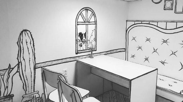 Quem entra no café se sente em um desenho animado (Foto: Divulgação)