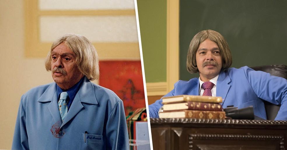 Chico Anísio e Bruno Mazzeo — Foto:  Globo/Cesar Alves