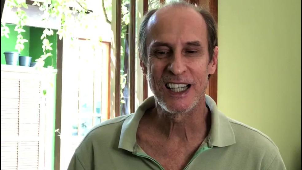 Ator Aramis Trindade doou rim ao irmão Alberto — Foto: Reprodução/TV Globo