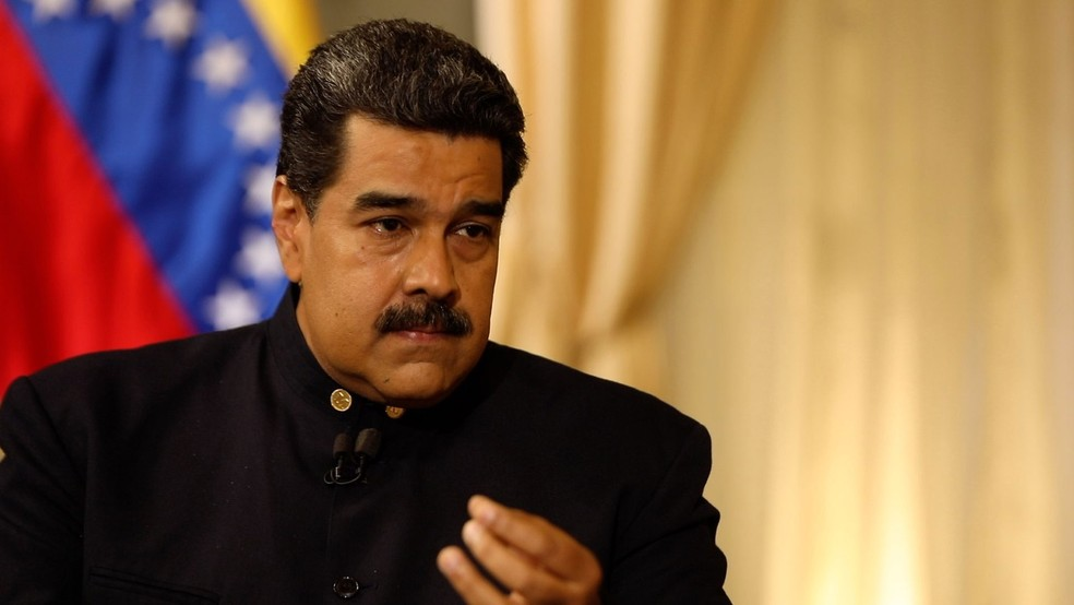 Presidente venezuelano, Nicolás Maduro, concedeu entrevista à BBC — Foto: BBC