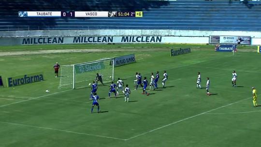 Os melhores momentos de Vasco 1 x 0 Taubaté pela Copa São Paulo de futebol júnior