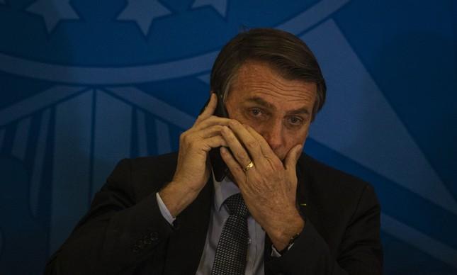 Jair Bolsonaro na solenidade do programa Novo Mercado de Gás