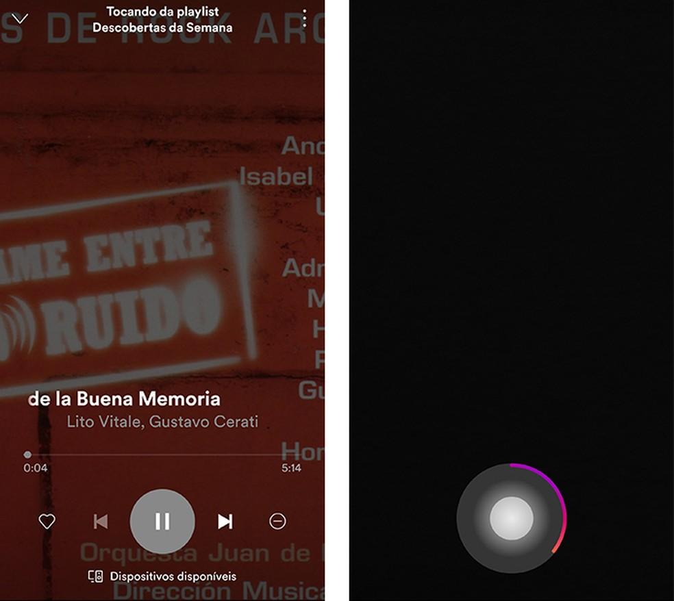 Toque uma música no celular e grave um vídeo para criar posts com trilha no Stories (Foto: Reprodução/Paulo Alves)