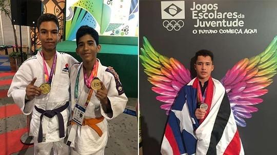 Maranhenses sobem ao pódio no judô e luta olímpica nos Jogos Escolares da Juventude