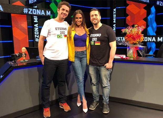Felipe Andreoli, Deborah Secco e Maurício Meirelles (Foto: Reprodução/Twitter)