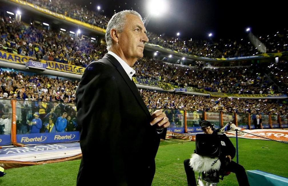 Gustavo Alfaro, técnico do Boca Juniors, na Bombonera — Foto: Site oficial do Boca Juniors