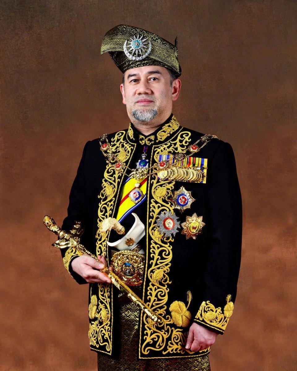 Foto oficial de Muhammad V, de Kelantan (Foto: Divulgação)