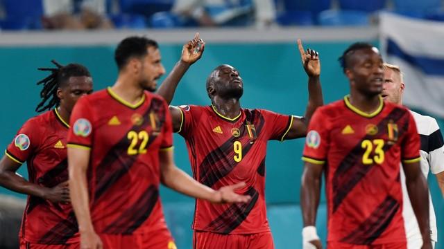 Lukaku comemora seu gol contra a Finlândia