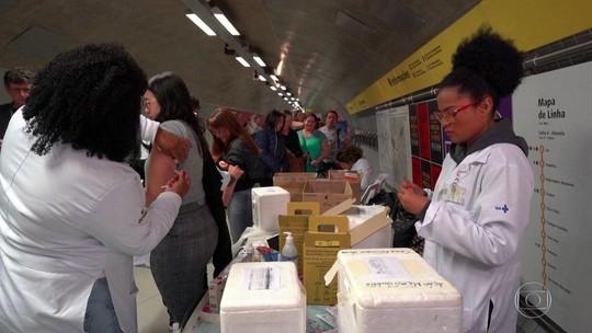67 mil pessoas são imunizadas contra sarampo no 'Dia D' da vacinação em SP