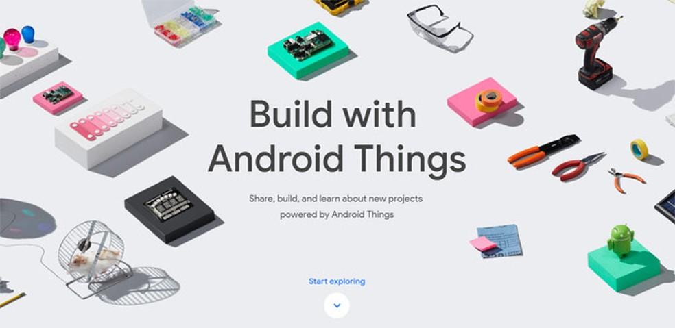 Página do Google para o Android Things (Foto: Reprodução/Google)