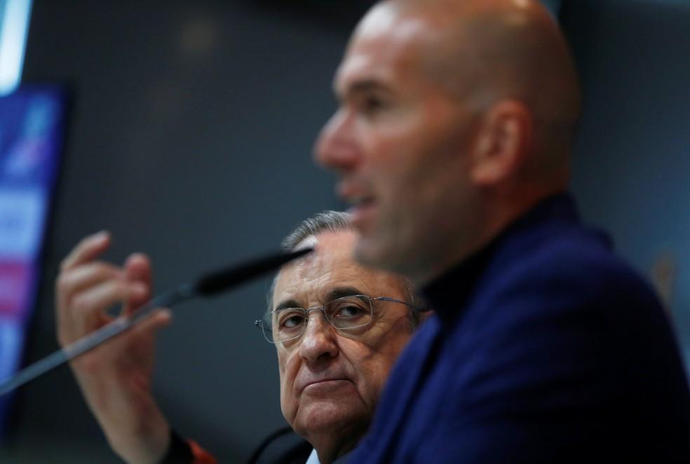 Florentino Pérez se disse surpreso com decisão de Zidane (Foto: Reuters)