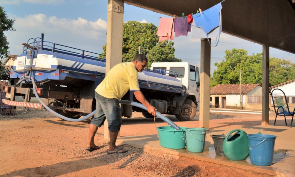 Abastecimento será feito por 50 caminhões pipa no sudeste do Tocantins (Foto: Luiz Henrique Machado/ATS)