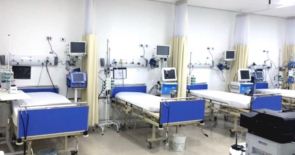 Respiradores novos na Santa Casa de São Roque (SP); estados só receberam metade dos respiradores comprados desde o início de março — Foto: Divulgação/Prefeitura de São Roque