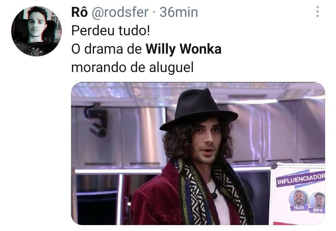 Look de Fiuk é comparado com Willy Wonka (Foto: Reprodução/Twitter)