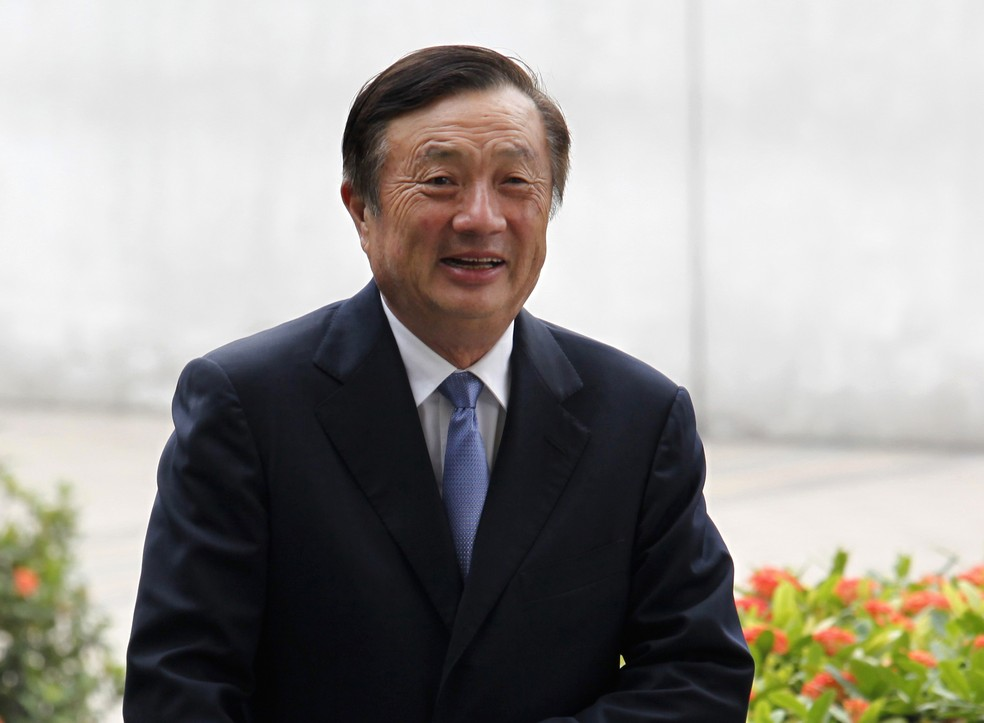 O presidente da Huawei fundou a empresa no final dos anos 1980 — Foto: REUTERS/Bobby Yip