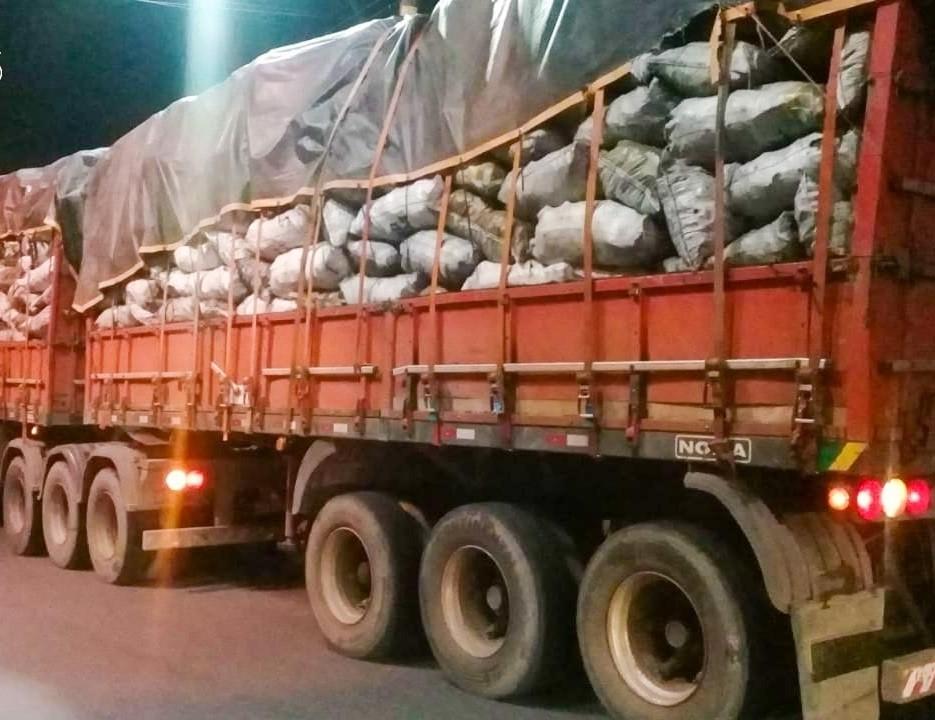 Mil sacas de carvão ilegal são apreendidas durante operação na BR-174