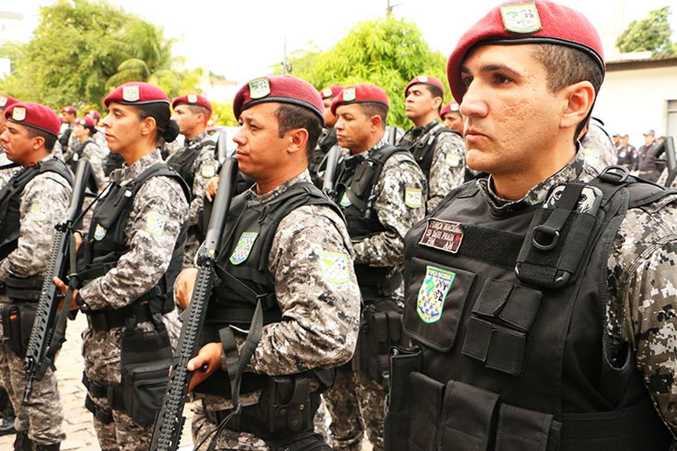 Permanência da tropa da Força Nacional no RN foi renovada (Foto: Ivanízio Ramos/Assecom Governo do RN)