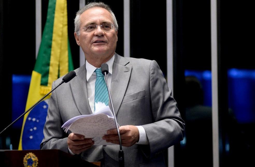 Imagem mostra o senador Renan Calheiros (Foto: Reprodução/G1)