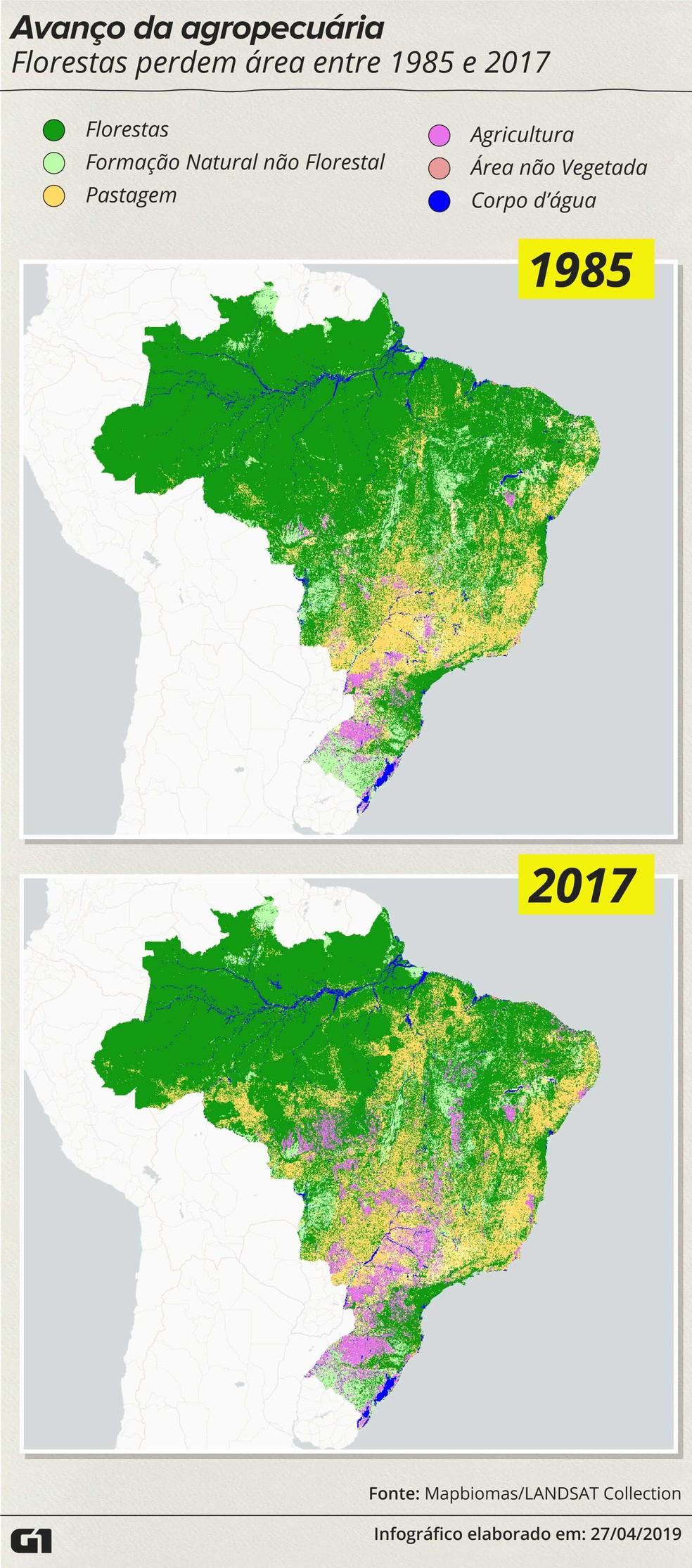 Avanço da agropecuária no Brasil — Foto: Rodrigo Sanches/G1