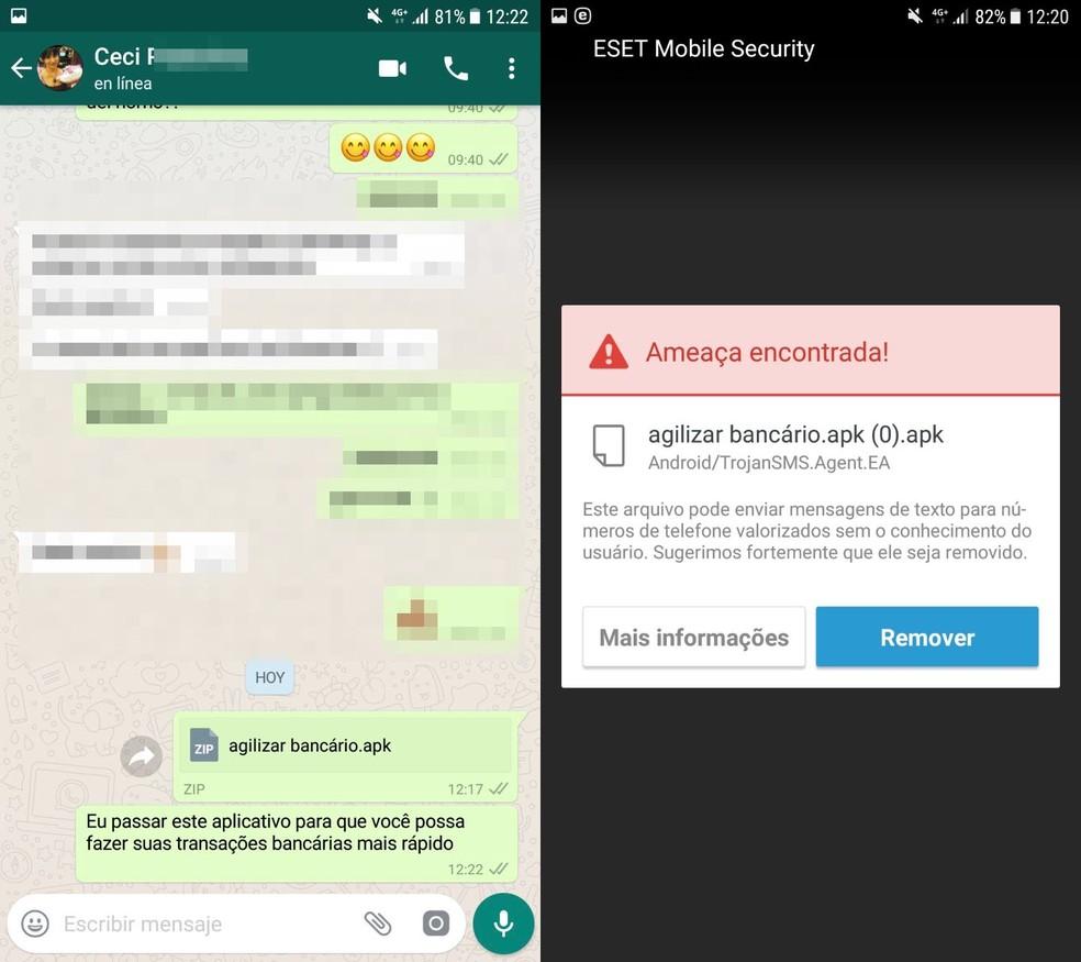 Arquivo APK desencadeia alerta de vírus no Android (Foto: Reprodução / ESET)