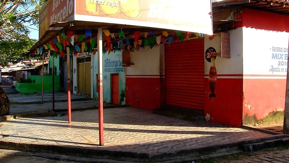 Crime aconteceu em bar na Rua Antônio Basílio, em Dix-Sept Rosado (Foto: Ítalo Sales/Inter TV Cabugi)