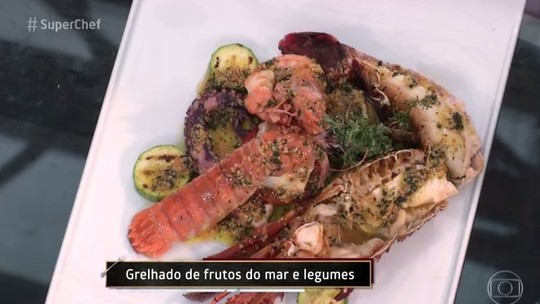 Grelhado de Frutos do Mar e Legumes do chef Edinho Engel