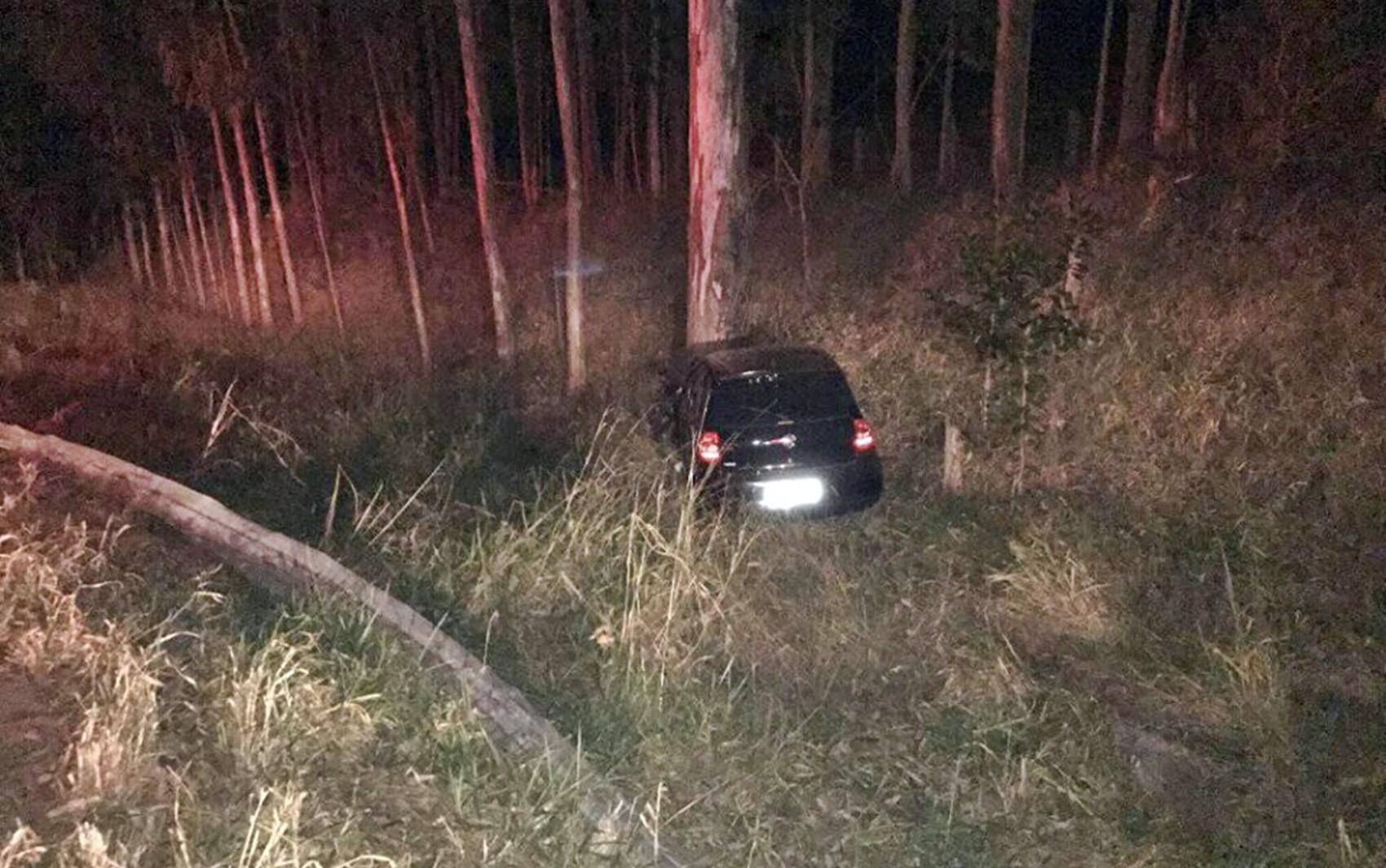Carro sai da pista, bate em árvore e uma pessoa fica em estado grave entre Lavras e Luminárias - Notícias - Plantão Diário