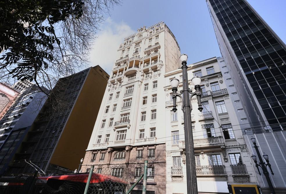 Edifício Sampaio Moreira, atual sede da Secretaria Municipal de Cultura de São Paulo — Foto: Eduardo Ogata/SECOM