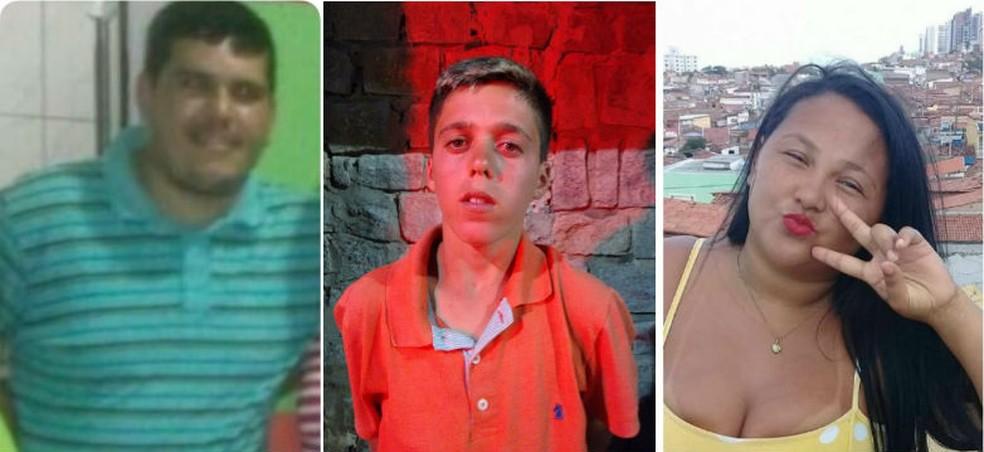Vladson Andrade, Eduardo Alisson e Dayse Suely foram mortos na chacina do Beco do Releixo (Foto: Cedi)
