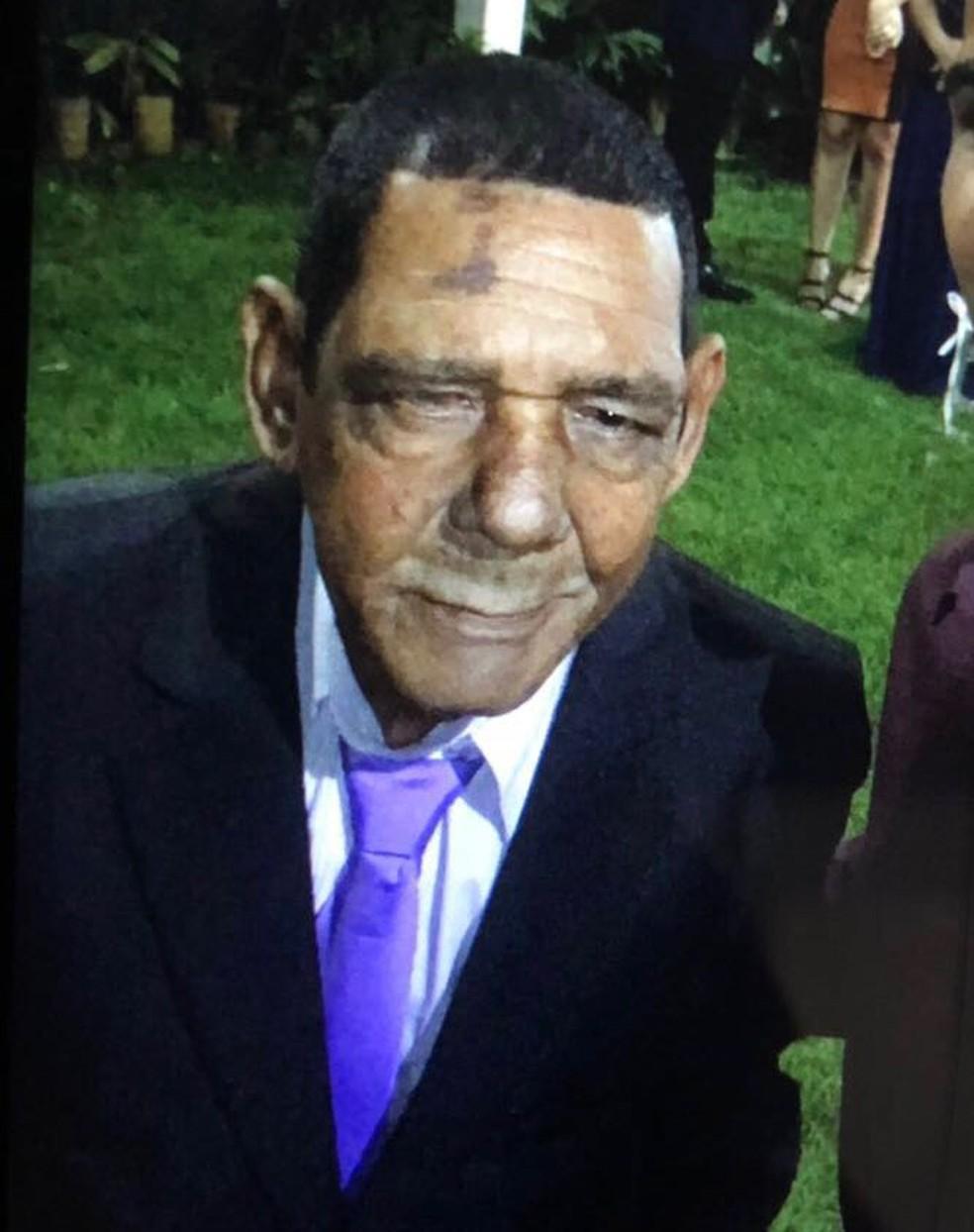 José Amaro Ferreira, pai do atacante Walter, segue desaparecido (Foto: Arquivo Pessoal)