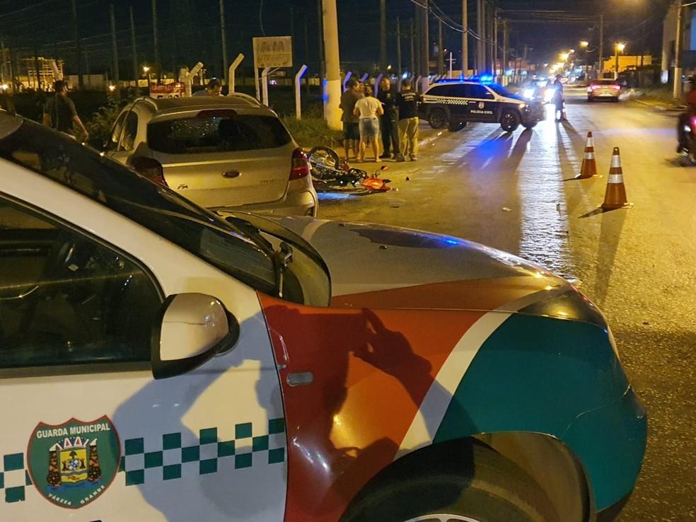 Acidente ocorreu na Avenida Alzira Santana — Foto: Divulgação