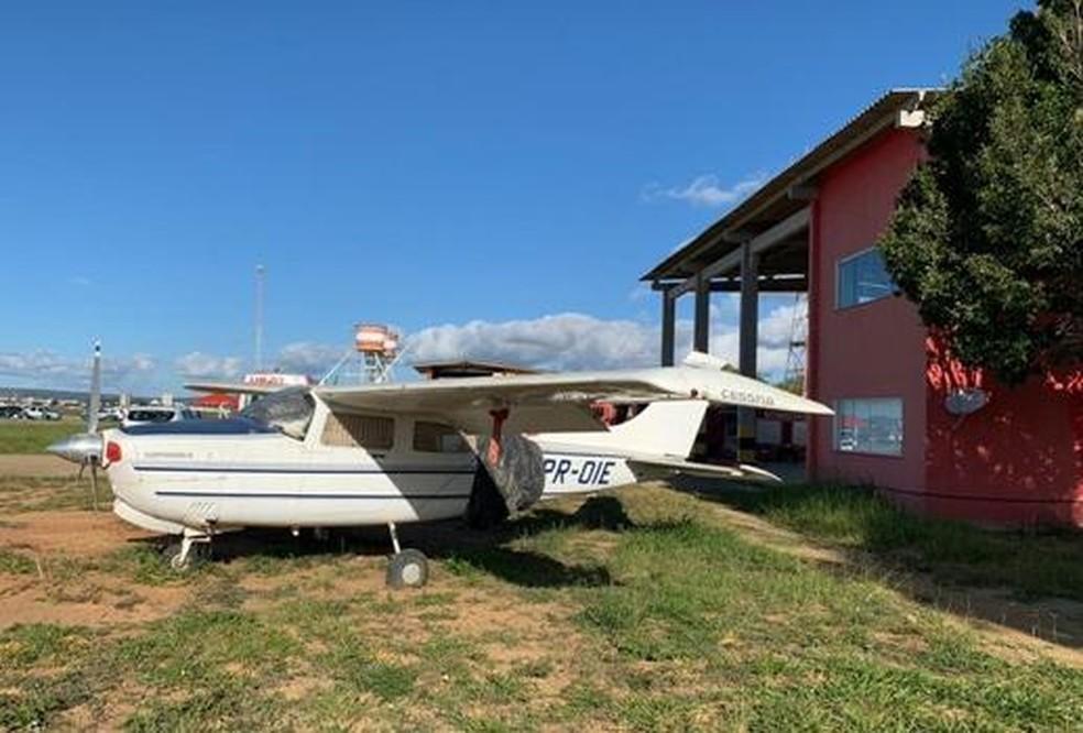 Aeronave era usada para comércio de drogas — Foto: Divulgação / SSP-BA