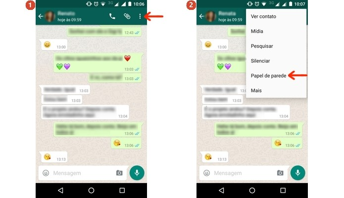 Menu principal de conversa do WhatsApp expandido (Foto: Reprodução/Raquel Freire)