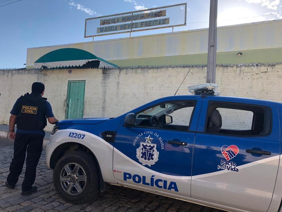 Ação tem o objetivo de combater o tráfico de drogas nas escolas da Bahia — Foto: Divulgação/Polícia Civil