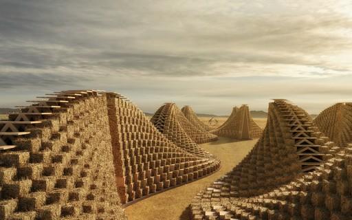 Escritório de arquitetura projeta escola feita de palha e madeira em obra de baixo custo e sustentável