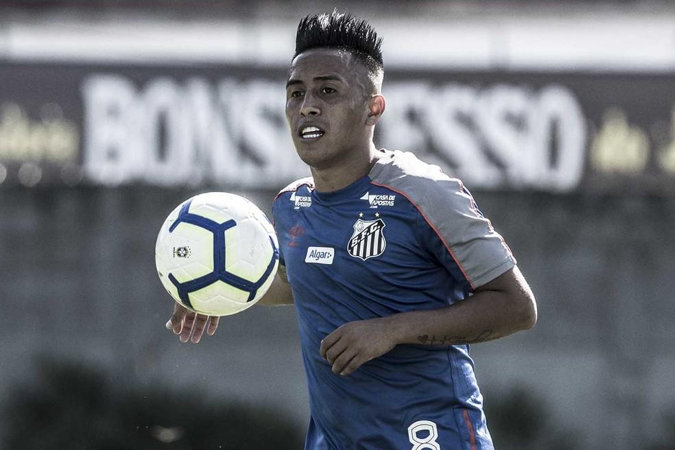 Cueva está suspenso do Santos após confusão em casa noturna — Foto: Ivan Storti/Santos FC