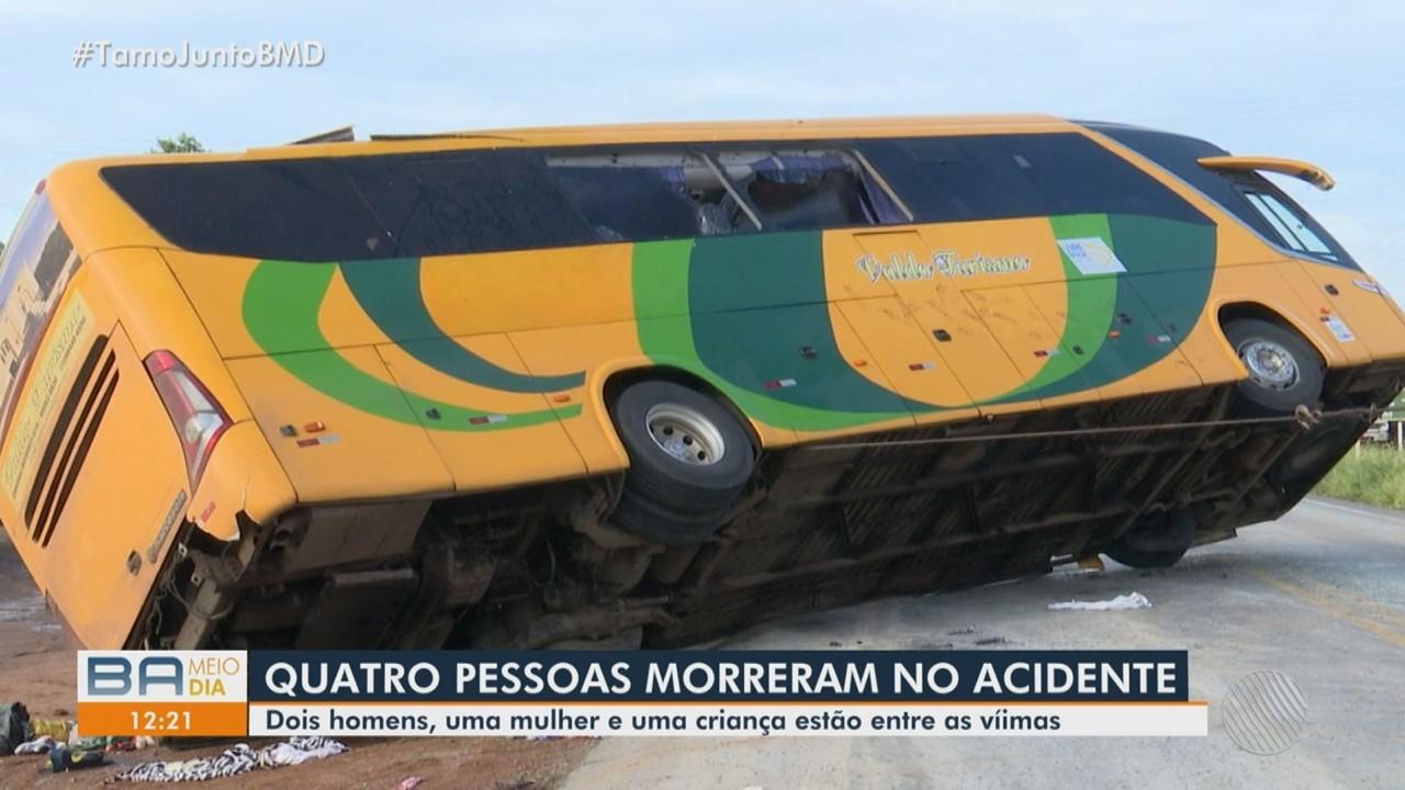 Tragédia: Acidente com ônibus deixa cinco mortos e mais de 20 feridos em Barreiras