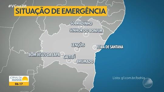 Governo do estado decreta situação de emergência em 140 cidades baianas por causa da seca