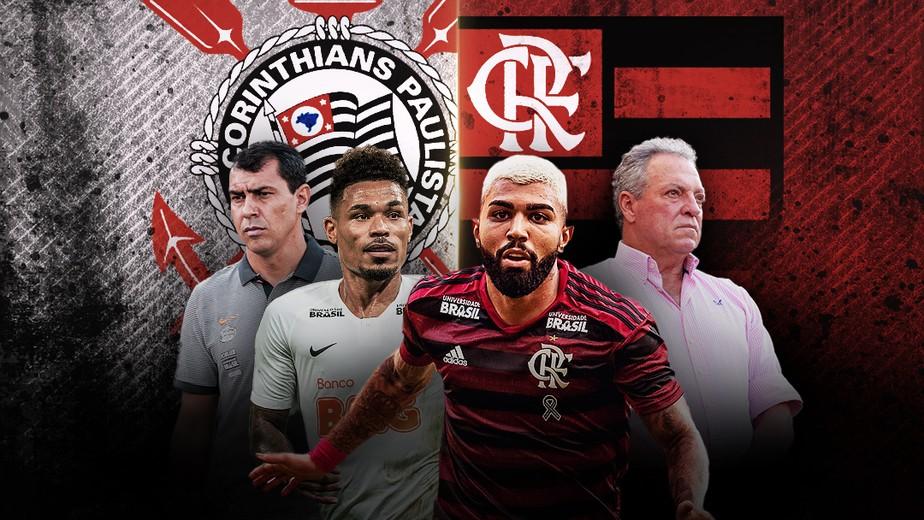 Resultado de imagem para Caras novas, pressão antiga: Corinthians e Flamengo voltam a decidir vaga na Copa do Brasil