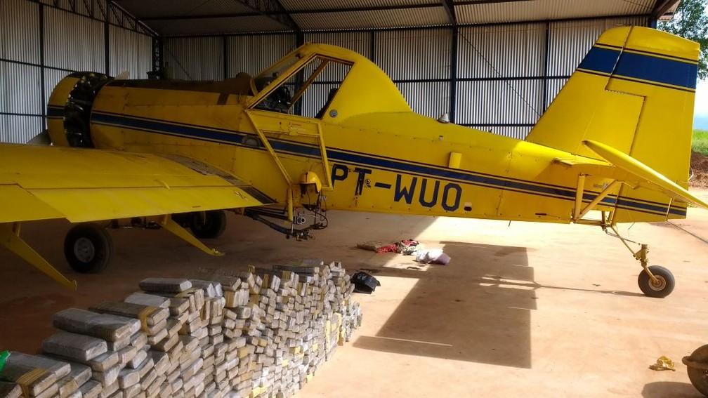 PF investiga a origem do avião apreendido em Paraguaçu Paulista (Foto: Divulgação )