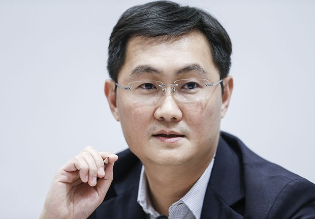BEIJING, CHINA - MARCH 03: 'Pony' Ma Huateng, Chairman and Chief Executive Officer of Tencent Holdings Ltd., speaks at a news conference on March 3, 2016 in Beijing, China. 'Forbes' released in 2015 Forbes China rich list, 'Pony' Ma Huateng ranked sixth w (Foto: Lintao Zhang/Getty Images)