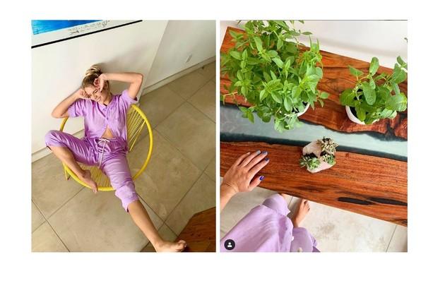 Ela também é fã da ornamentação com plantas (Foto: Reprodução)