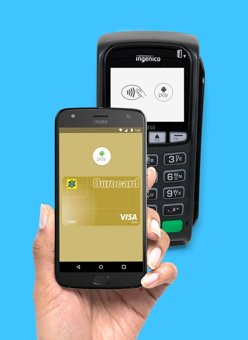 Android Pay, sistema de pagamento criado pelo Google para celulares. (Foto: Divulgação/Google)