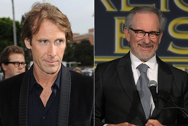 Michael Bay e Steven Spielberg (Foto: Getty Images)