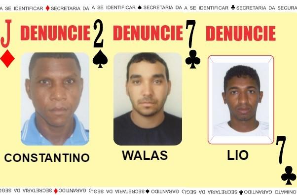 'Baralho do Crime' é atualizado, e três procurados pela polícia na Bahia são adicionados ao catálogo