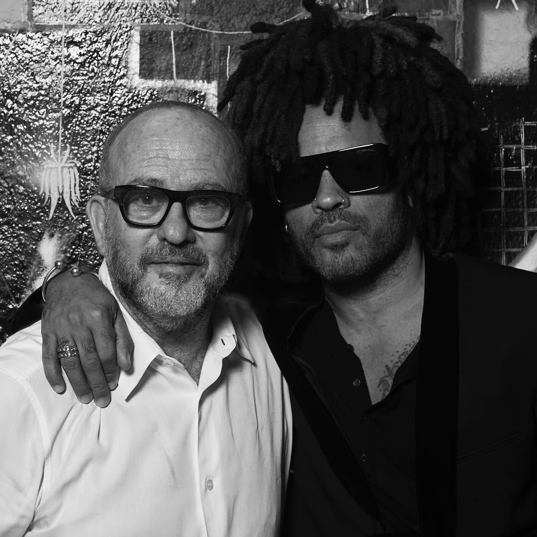 Lenny Kravitz e Bob Wolfenson; o rockstar participou de um shooting exclusivo para a GQ de maio (Foto: Fotos: Bob Wolfenson, Gabriel Cicconi e Ana Clara Pazian)